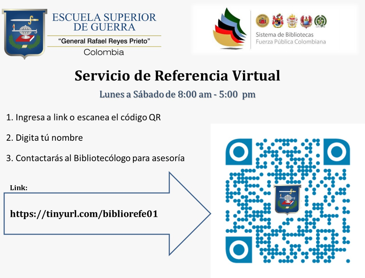 servicio de referencia virtual horario